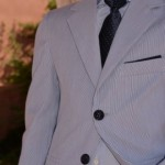 chaqueta azul niño