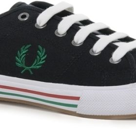 fred-perry-vintage-tennis-canvas-negra-