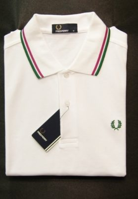 polo blanco fred perry