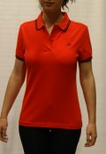 polo fred perry mujer rojo