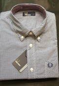 camisa cuadro azul fred perry