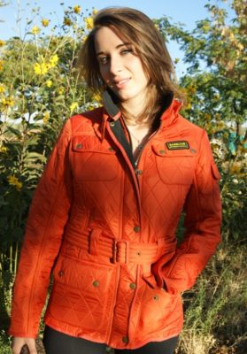 barbour naranja no encerado