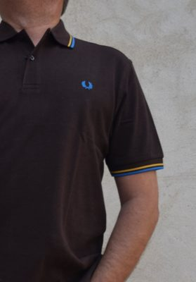 polo-fred-perry-marron-hombre