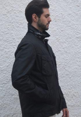 Chaqueta-Barbour-Keadby-encerado-negro-hombre